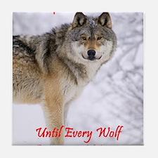The Wolf - A Vegan Tile Coaster