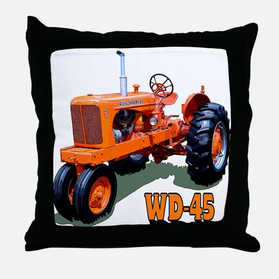 Unique Tractors Throw Pillow