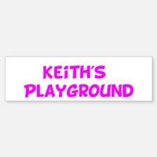 Keith's Playground Bumper Bumper Bumper Sticker
