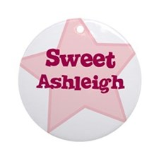 Sweet Ashleigh Ornament (Round)
