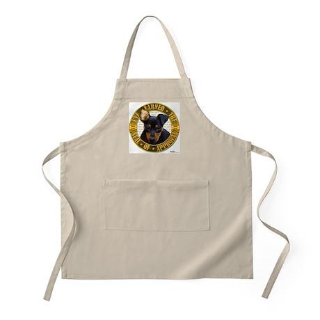 Min Pin Puppy BBQ Apron