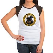 Min Pin Puppy Women's Cap Sleeve T-Shirt