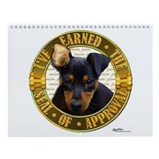 Min Pin Puppy Wall Calendar