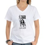 Liberty to Palestine Women's V-Neck T-Shirt