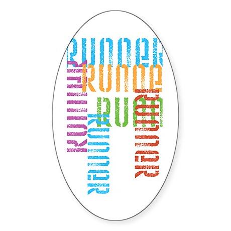 Run Off Variety Oval Sticker