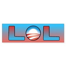 Obama: LOL Bumper Bumper Sticker