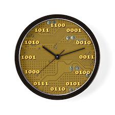 Yellow Binary Wall Clock