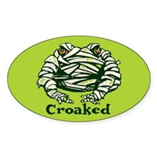 Frog Mummy Oval Decal