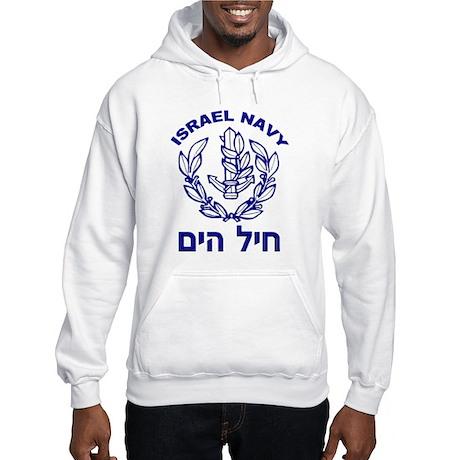 Israel Navy Logo Hooded Sweatshirt