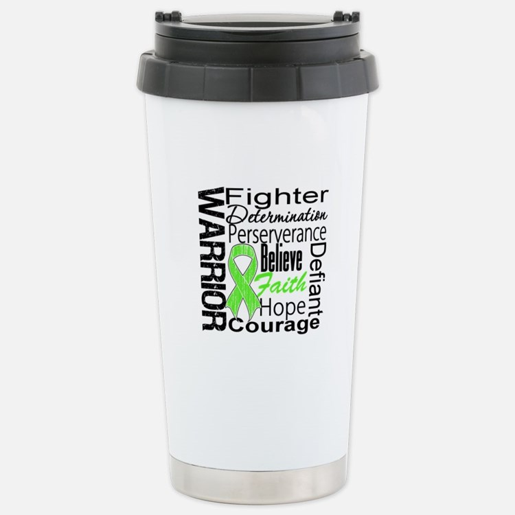 Collage Lymphoma Warrior Travel Mug