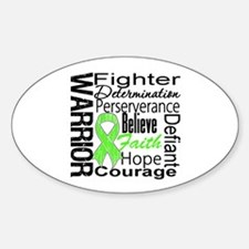 Collage Lymphoma Warrior Oval Sticker (50 pk)