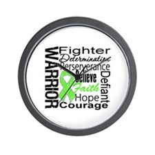 Collage Lymphoma Warrior Wall Clock