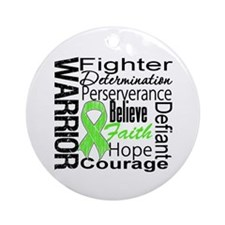 Collage Lymphoma Warrior Ornament (Round)