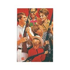 Christmas Guns Rectangle Magnet