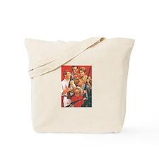 Christmas Guns Tote Bag