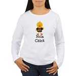 Fleur de Lis Nola Chick Women's Long Sleeve T-Shir