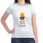 Fleur de Lis Nola Chick Jr. Ringer T-Shirt
