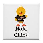 Fleur de Lis Nola Chick Tile Coaster