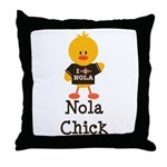 Fleur de Lis Nola Chick Throw Pillow