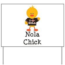 Fleur de Lis Nola Chick Yard Sign