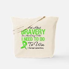 Lymphoma Bravery Tote Bag