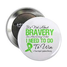 """Lymphoma Bravery 2.25"""" Button"""