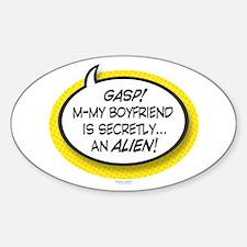 Alien Boyfriend Oval Decal