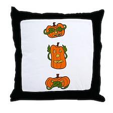 See No Evil JackoLanterns Throw Pillow