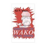 Gil T. on WAKO Rectangle Sticker