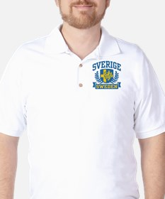 Sverige Sweden Golf Shirt