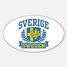 Sverige Sweden Oval Decal