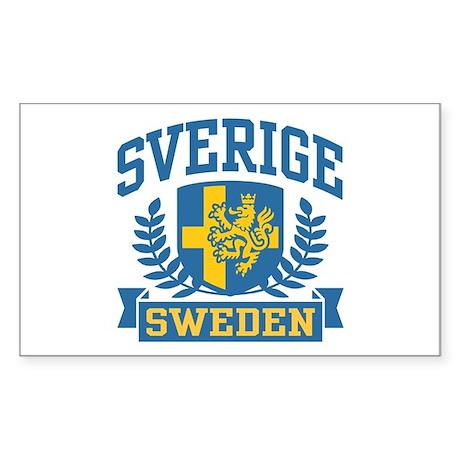 Sverige Sweden Rectangle Sticker