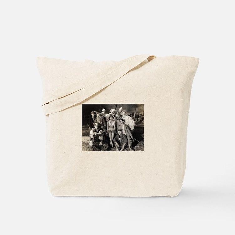 Vintage Clowns Tote Bag