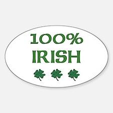 100% IRISH Oval Decal