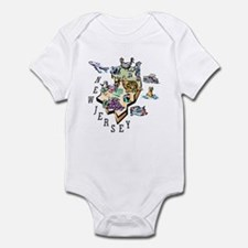 New Jersey Map Infant Bodysuit