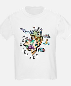 New Jersey Map T-Shirt