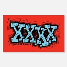 XXXX Sticker (Rectangle)