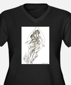 Fire Fairy Women's Plus Size V-Neck Dark T-Shirt