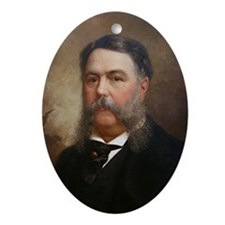 Chester Arthur Christmas Ornament