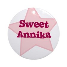 Sweet Annika Ornament (Round)