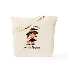 knock knock big sister halloween t-shirt Tote Bag