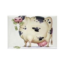 Cash cow Rectangle Magnet (10 pack)
