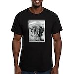Telephoto Men's Fitted T-Shirt (dark)