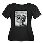 Telephoto Women's Plus Size Scoop Neck Dark T-Shir