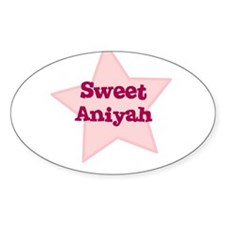 Sweet Aniyah Oval Decal