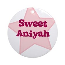 Sweet Aniyah Ornament (Round)