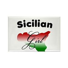 Sicilian Girl Rectangle Magnet