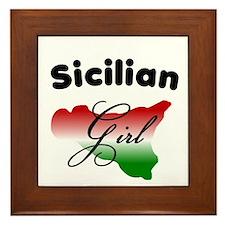 Sicilian Girl Framed Tile