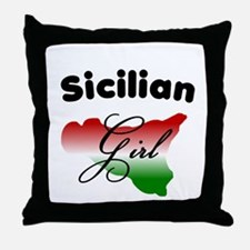 Sicilian Girl Throw Pillow