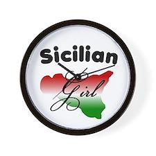 Sicilian Girl Wall Clock